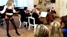 Hidden camera prank for two classical music fans