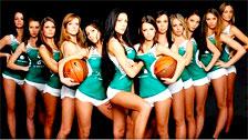 Cheerleaders basket lituanien sont pour les manger