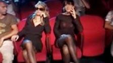Sexy Luna y Federica Tommasi en una orgía interracial en el cine