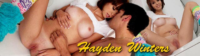 Hayden Winters putain dans la buanderie pantoufles en peluche