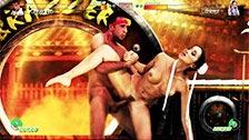Katsumi haciendo de Chun Li en un street fighter porno