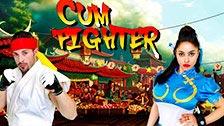 Marta LaCroft haciendo de Chun Li en una parodia X de Street Fighter