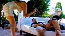 She makes her fantasies come true being unfaithful while her friend films it