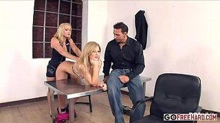 Brooklyn Lee y Kathia Nobili follando con el inspector Nick Lang