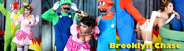 Brooklyn perseguição pela Princesa Peach Mario e Luigi fode