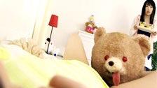 Il cazzo di Teddy Bear di più giapponese Arisu Hayase
