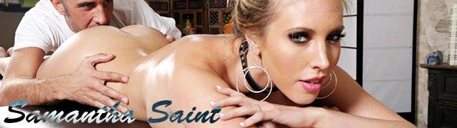 Keiran Lee massagem corporal escultural Samantha Santo