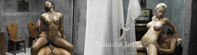 Brill Jasmine Webb e Natasha se revezam porra um velho