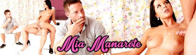 Mia Manarote faz seu amante fodê-la na frente do seu marido