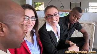 Die freche Frauen, Valentina Nappi und Mischa Brooks, Ficken im Büro