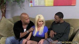 Two black cocks make the mature Erica Lauren happy
