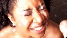 Der fett Amile Waters rächt ihrem Freund in einer rassistischen bukkake