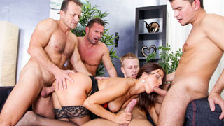 George Uhl shares his wife, Simone Style, in this gangbang