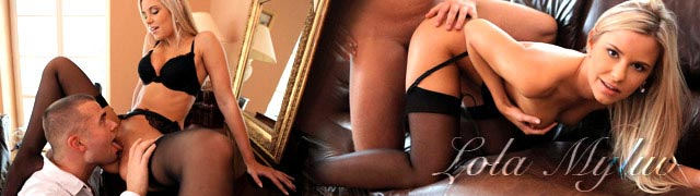 Pornô apaixonante estrelado pela bela loira Lola Myluv