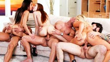 Evilyn Fierce, Jenna Justine r Cali Carter w orgii swingers