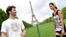 Holly D shagged by James Deen next to the Eiffel Tower