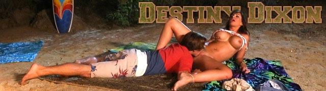 Destiny Dixon faz sexo em uma toalha de praia à noite