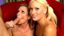 Becca Blossoms and JC Simpson, mother and stepdaughter doing a threesome