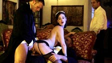 The butlers fuck the French maid Claire Castel