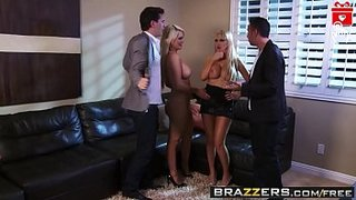 The sexy babes, Nikki Benz and Alexis Ford, got fucked on New Year\'s Eve