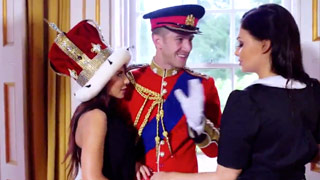 Aletta Ocean and Madison Ivy end up fucking in the Royal Palace