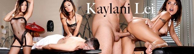 A asiática Kaylani Lei faz massagens eróticas em seus clientes