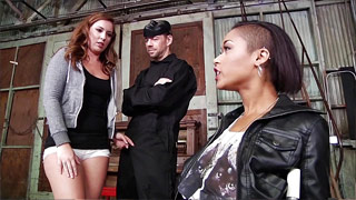 Erik Everhard enmascarado jodiendo a Maddy O\'Reilly y Skin Diamond