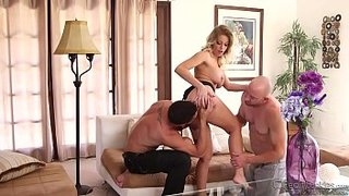 Britney Amber, Marco\'s pampered wife, tries two cocks