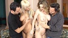 Seksualne spotkanie par z Kaylą Paige i Emilianną