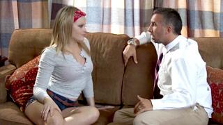 Alexis Texas vestida como pinup para transar com seu amigo