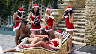 Summer Xmas orgy starring Aletta, Helena, Lara, Lucy and Stella