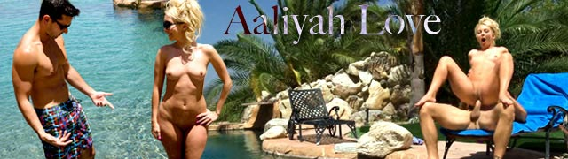 Aaliyah Love fucked by the poolside after removing her bikini