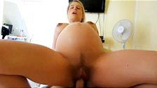 Pregnant woman doing a first person porn video