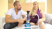 Lila Lovely loses her inhibitions smoking hashish and gets fucked on her knees