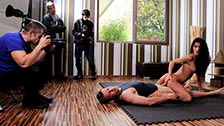 Filming of a sex scene starring Valentina Canali