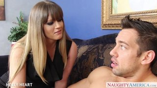 Holly Heart and her stepson commit incest and enjoy a creampie ending