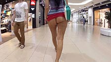 The exhibitionist milf Naughty Lada goes naked in public places
