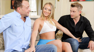 Double vaginal penetration with the lewd wife AJ Applegate
