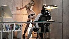 Angelica la jeune sensuelle se fait enculer dans le bureau de son mec