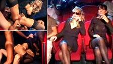 Die Witwen Federica und Luna bei einer interrassischen Orgie in einem XXX-Kino