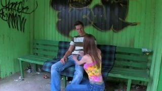 Beata Undine in a daring fuck at a bus stop