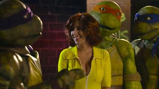 April O\'Neil sucks the Ninja Turtles after fucking Jones