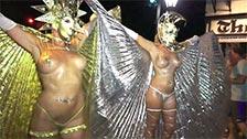 Pintura corporal e fantasias no festival Cayo Hueso