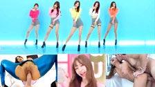 Porno-Musikvideo, mit K-Pop und der asiatischen Girlband EXID