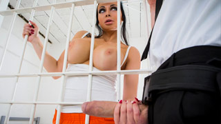 Aletta Ocean having sex in prison with a guard