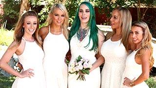 Gran orgía nupcial en honor de la novia Taurus el día de su boda