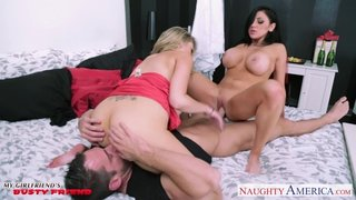 MILFS Katie Kox and Audrey Bitoni sharing a dick