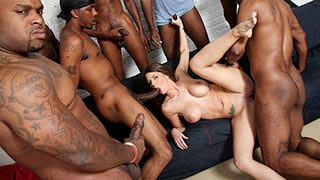 Brooklyn Chase in a gangbang after her car breaks down