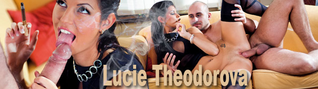 Lucie Theodorova, a dominatrix smoking and having sex