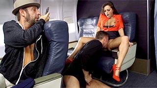 Abigail Mac, a lewd flight attendant in business class